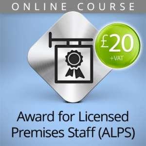 alps licensed premises staff online course