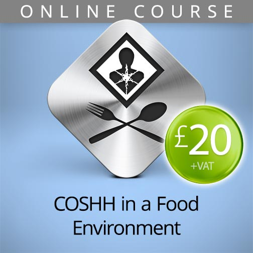 COSHH in food environment online course