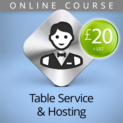 table service and hosting online course